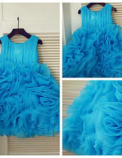Princess Knee-length Flower Girl Dress - Organza Sleeveless