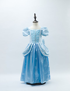 Ball Gown Floor-length Flower Girl Dress - Satin/Stretch Satin Short Sleeve