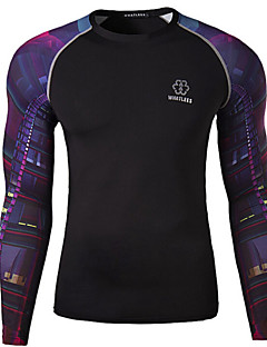 Men's Cycling T-shirt Long Sleeve Bike Autumn Breathable / Quick Dry / Wicking Black M / L / XL / XXL / XXXL / XXXXL Stretchy