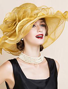 נשים חמוד/מסיבה קיץ פשתן כובע עם שוליים רחבים
