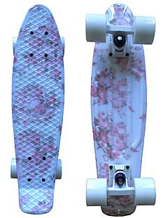 pink blomstret plast skateboard 22 tommer mini cruiser med ABEC-9 lejer