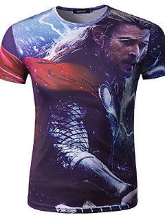 Men's Short Sleeve Summer Cycling T-shirt Breathable/Quick Dry/Wicking As Picture M/L/XL/XXL/XXXL/XXXXL Stretchy