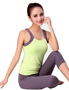 Outros Mulheres Ioga Ternos Sem Mangas Materiais Leves Amarelo / Verde / Vermelho Ioga / Pilates / Fitness / Esportes Relaxantes / Corrida