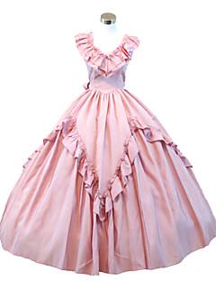Gothic Pink Civil War Southern Belle Lolita Ball Gown Dress  Halloween Party Dress