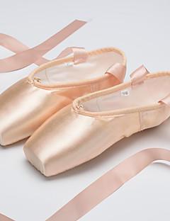 ללא התאמה אישית נשים ילדים בלט סטן שטוחות נעלי ספורט אימון מתחילים מקצועי פנימי הופעה עניבת פפיון שטוח בז'
