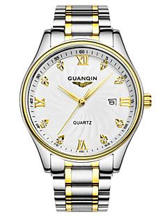 Herren Armbanduhr Quartz Kalender / Wasserdicht Edelstahl Band Silber Marke