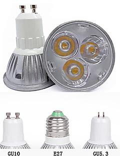 3W GU10 / GU5.3(MR16) / E26/E27 Spot LED MR16 3 LED Haute Puissance 260 lm Blanc Chaud / Blanc Froid Décorative AC 85-265 V 1 pièce