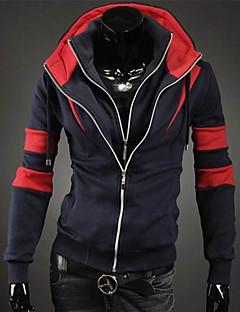 Ležérní / Práce Kapuce - Dlouhé rukávy - MEN - Coats & Jackets ( Bavlna )