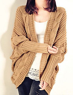 Women's Solid Pink / Black / Yellow / Beige / Brown Shrug , Casual Long Sleeve