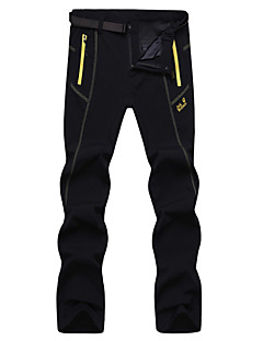 Men's Autumn / Winter Hiking Pants Pants Waterproof / Breathable / Wearable / Windproof / Thermal / Warm Black