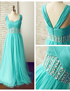 Formal Evening Dress - Jade A-line Straps Floor-length Chiffon / Tulle