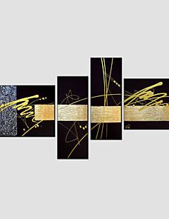 set pintura al óleo de 4 abstracta moderna, material de la lona con el marco estirado listo para colgar tamaño: 50 * 70cm * 70cm 2pcs 25 *