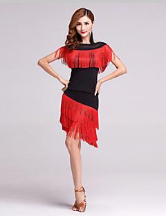 ריקוד לטיני תלבושות בגדי ריקוד נשים ביצועים פוליאסטר / לייקרה גדיל (ים) 2 חלקים שרוול קצר גבוה חצאית / עליון