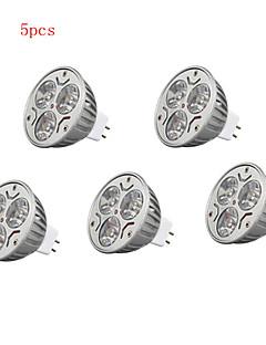 5pcs 9w mr16 900lm chaude lumière de la lampe / froid led spots (12v)