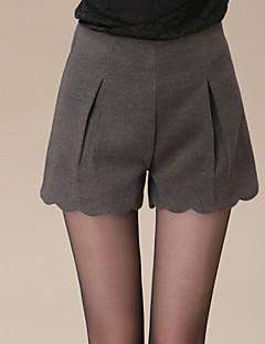 Kvinner Sexy / Fritid Shorts Bukser Mikrofiber Mikroelastisk