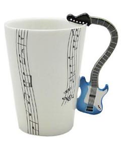 muziek gitaar cup viool keramische cup porseleinemail koffie thee mok cup