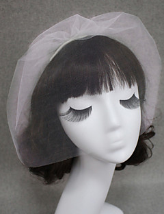 Wedding Veil One-tier Simple Blusher Veils/Veils for Short Hair Cut Edge
