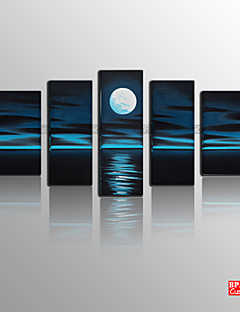 BPAGO ® Modern Moonlight Five Stretched Canvas Print Ready to Hang