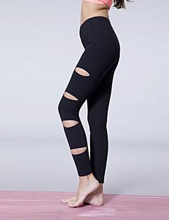 מכנסיים / מכנסי טייץ / גרביונים אימונית יוגה לנשים לנשימה / הפתילה / blackyoga דחיסה / פילאטיס