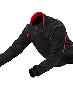 Getmoving® ג'קט לרכיבה יוניסקס שרוול ארוך אופנייםעמיד למים / נושם / עיצוב אנטומי / בטנת פליז / מוגן מגשם / רוכסן קדמי / לביש / רצועות