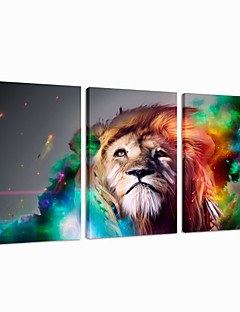 visual pared star®lion decoración del arte del tríptico lona animal de impresión listo para colgar