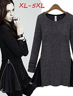 DONNE - Top e blouse - Informale Rotondo - Maniche lunghe Chiffon / Cotone / Poliestere