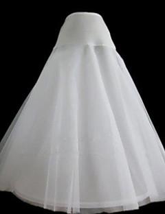 Slips A-Line Slip Tea-Length 2 Nylon Tulle Netting White