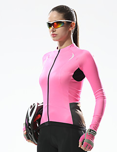 SANTIC® Cycling Jersey Women's Long Sleeve Bike Breathable / Quick Dry / Ultraviolet Resistant Jersey / Tops Terylene SolidSpring /