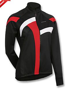 GETMOVING חולצת ג'רסי לרכיבה לנשים אופניים מעילי פליז ג'רזי צמרותעמיד למים נושם שמור על חום הגוף עמיד עיצוב אנטומי בטנת פליז מבודד מוגן
