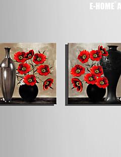 Vida Imóvel / Botânico Impressão em tela Dois Painéis Pronto para pendurar , Quadrada