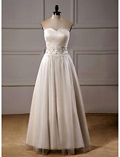 웨딩 드레스 - 아이보리(색상은 모니터에 따라 다를 수 있음) A 라인 발목 길이 스윗하트 오르간자