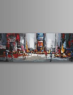 İnsanlar / Natürmort / Manzara / Mimari / Modern Kanvas Tek Panel Hang Hazır , Yatay