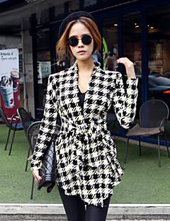 Women's Plaid  Coat (cotton)