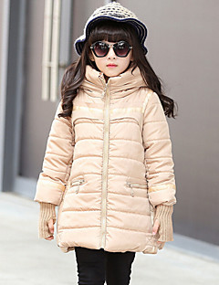 Girl's Black / Red / Beige Down & Cotton Padded , Dresswear Polyester Winter