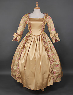 Rococo  Wholesalelolita Gold Printing Lolita Prom Dress Marie Antoinette Inspired Dress Floor-lenght  Evening Dress