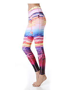 Yoga Pants Underdelar Andningsfunktion / Snabb tork / wicking Naturlig Stretch Fotbollströjor Dam Yokaland Yoga / Pilates / Fitness