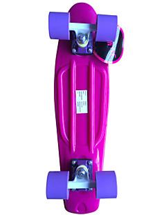 classic Kunststoff-Skateboard (22 inch) cruiser Platte rosa mit lila Räder