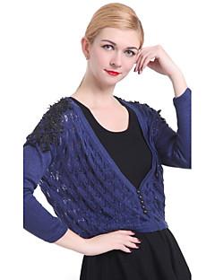 kvinders afslappet / arbejde langærmet pullover, strikvarer medium