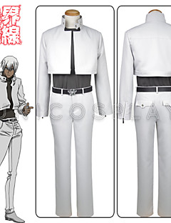 Anime Blood Blockade Battlefront Zapp Renfro Cosplay Costume White Outfit Full Set