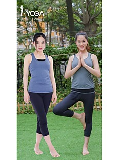 Iyoga ® Ioga tops Anti-Estático / Antibacteriano / Redutor de Suor / Macio Stretchy Wear Sports Ioga Mulheres