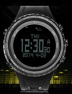 Herren Armbanduhr digitalLCD / Höhenmesser / Compass / Thermometer / Kalender / Chronograph / Wasserdicht / Duale Zeitzonen / Alarm /
