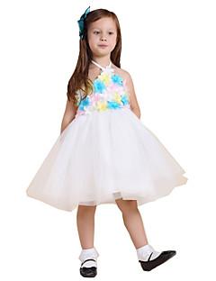 Vestido para Meninas das Flores - Baile Coquetel Sem Mangas Renda / Poliéster