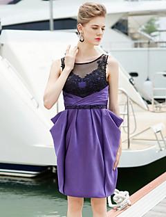 Φόρεμα Κοκτέιλ Πάρτι - 114 Θήκη/Στήλη Κόσμημα Κοντό/Μίνι Σατέν