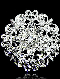 Beautiful Alloy And Rhinestone Brooches