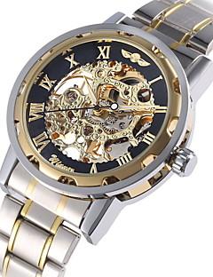 WINNER Men's Unisex Dress Watch Fashion Watch Mechanical Watch Mechanical manual-winding Automatic self-winding Large Dial Luminous Alloy Band