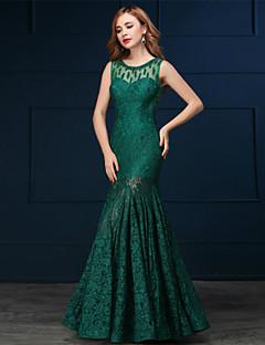 Formal Evening Dress - Clover Trumpet/Mermaid Scoop Floor-length Lace