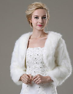 Wedding / Party/Evening / Casual Faux Fur Shrugs 3/4-Length Sleeve Fur Coats
