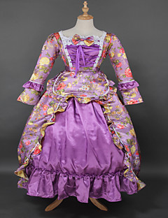 Top SALE Rococo Purple Printing Lolita Gothic Prom Dress Marie Antoinette Inspired Dress Wholesalelolita Evening Dress