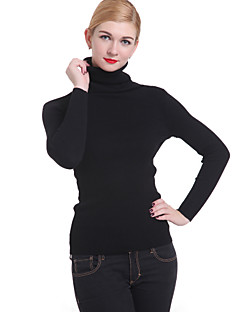 Women's Casual/Work Long Sleeve Pullover , Knitwear Medium