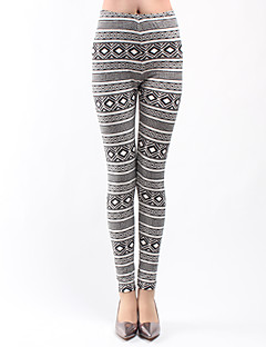 Women Print Legging,Polyester Thin